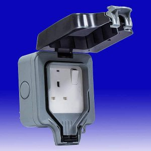 `Electrical Water proof 13 amp Single Socket IP65