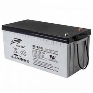 200AH 12v Ritar solar battery proftech