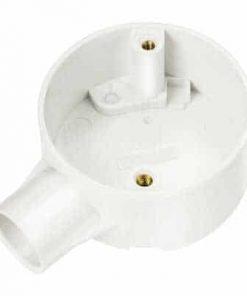 20mm White PVC Terminal Conduit Box