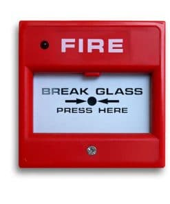 Red Break Glass Fire Alarm Call Point