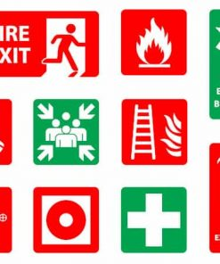 Fire Exit Signs and Labels