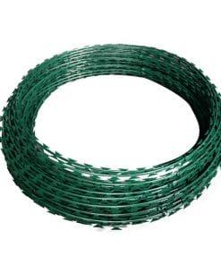 coloured razor wire